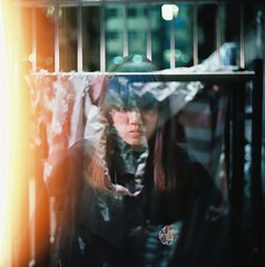 bad dream (waiyuhk) Tags: 120 6x6 film girl night mediumformat hongkong kodak lightleak 120mm kiev88 arsat ektar