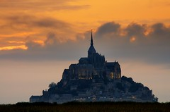 Getting Ready For Supper (DPGold Photos) Tags: travel sunset sun france church island europe normandie normandy montstmichel lemontstmichel dpgoldphotos