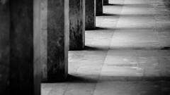 Shadows (Brînzei) Tags: bucurești casapresei jupiter37a135mmf35 m42 bw decay manualfocus nightwatch pavement rusty shadow ★ vignette canoneos400d komz blackandwhite