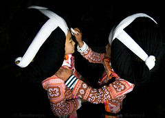 CHINA (BoazImages) Tags: china festival asian costume clothing colorful asia traditional chinese culture documentary indoor tribal longhorn tradition tribe guizhou miao ethnic hmong ethnicity hilltribe headwear boazimages tiaohua