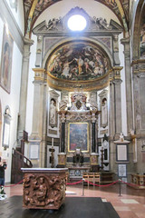Lovely Craving and Art Work (Jocey K) Tags: light people italy detail art church window painting gold design artwork floor interior columns ceiling damage parma marble duomo alter fresco craving parmacathedral cosmostour6330