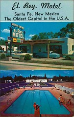 El Rey Motel Santa Fe, New Mexico (1950sUnlimited) Tags: travel vacation newmexico santafe advertising advertisement pools 1950s postcards leisure hotels poolside inns motels midcentury lodges swimmingpools elreymotel motorinns