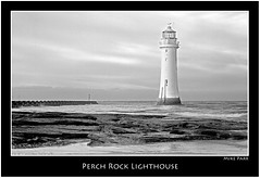 Perch Rock Lighthouse. (Mike Parr) Tags: water architecture landscape mono blackwhite wallasey wirral newbrighton merseyside landscapephotography rivermersey wirralpeninsula newbrightonlighthouse mikeparr perchrock perchrocklighthouse flickriver canon7d mikeparrphotography