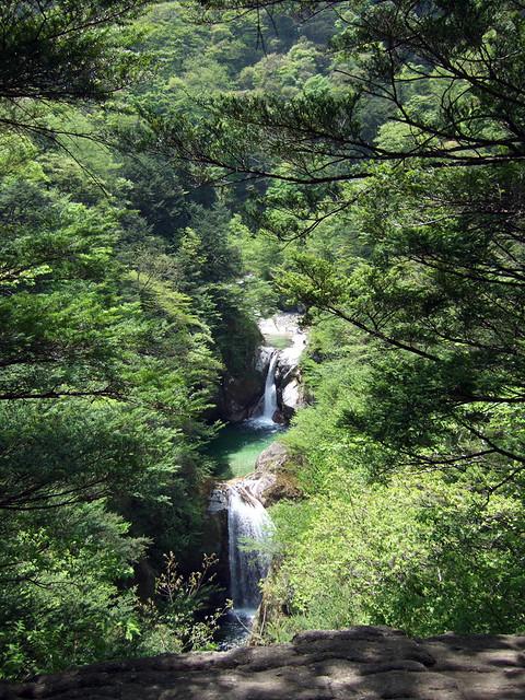 尾白川渓谷の代名詞とも言える神蛇滝 尾白川渓谷