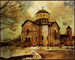All Saints Catholic Church, Stuart, Iowa. (keeva999) Tags: winter painterly texture church architecture nikon iowa hss d3200 memoriesbook lenabemanna melissagallo