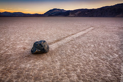 Drifter [Explored 03/14/13] (Eddie 11uisma) Tags: california park rock racetrack sunrise death moving desert playa national valley eddie lluisma