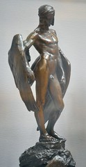 Alfred Gilbert (1854-1934) - Icarus (1882-4), front right 1, Tate Britain, Dec 2012 (ketrin1407) Tags: statue bronze naked nude erotic victorian icarus mythology tatebritain statuette sensuous alfredgilbert