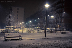 snow in the city (Giulia Catania) Tags: light snow cold colors night neve ambient luci colori freddo notte ambiente flickraward