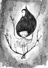 Crecer (Anita Mejia) Tags: white black thanks illustration pen ink mexico sketch blog gracias traditionalart doodle ilustracion facebook fanpage anitamejia chcolatita