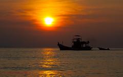 The First Boat Out (sydbad) Tags: sea beach sunrise canon boat first bayu kelantan 24105mm ruku pasirputeh tokbali bisikan 5dmk2 cherang photographyforrecreation