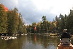 Gates AuSable Lodge riverboat (Grayling Visitors Bureau) Tags: fishing ausable grayling