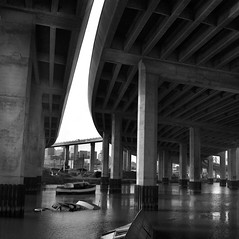 Mission Bay, San Francisco (Dizzy Atmosphere) Tags: sanfrancisco freeway wetlands sanfranciscobay mccoveycove missioncreek highway280 tidalinlet rolliecordv 6thstreetramp