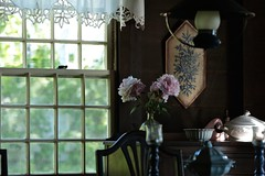Peonies in an Old Maine Cottage (smilla4) Tags: interior inside window flowers peonies mainecottage maine bokeh