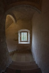 Down the stairs - Bolsover Castle (explored) (AngelCrutch) Tags: bolsovercastle bolsover englishheritage britishhistory castle stonebuilding staircase window light uk derbyshire windows stairs steps