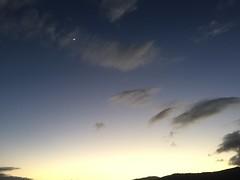 Moon and dancing clouds at dawn (leeanne.bousamra) Tags: dawn cairns wharf morning run moon clouds nuages luna iphone6
