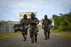 Who Ya Gonna Call? (United States Marine Corps Official Page) Tags: cbrn combatcamera comcam gasmasks mopsuits usmc marinecorpsbasehawaii hawaii unitedstates us