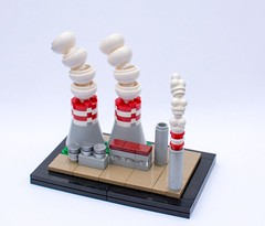 "cooling towers (Wojciech Houb ""Scrat"") Tags: kielce cooling tower factory industrial whbricks scrat lego zbudujmyto npu poland afol"