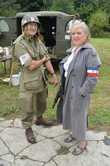 French Resistance and U.S. Medic (masimage) Tags: hootonpark hooton park 1940s weekend 2016 wartime ww2 wwii soldier army navy raf usarmy jive dance thevictorygirls victorygirls victory girls belladonnabrigade belldonna brigade singers ensa vintage britain 40s reenactment reenactor