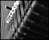 bricking it (in b&w) (Harry Halibut) Tags: 2016©andrewpettigrew allrightsreserved contrastbysoftwarelaziness noiretblanc blackwhite blancoynegro blanc weiss noire schwatz bw zwart wit bianco nero branco preto imagesofsheffield images sheffieldarchitecture sheffieldbuildings colourbysoftwarelaziness south yorkshire sheffield bridge hallam university corten steel rust oxidation bridkwork rows linescurves bolts stainless fins flanges segments institute education charles street newbuild corin mellore designer david design march 2016 business school shu science centre inclusion research concertinaeffect walkway central balfour beatty covered arundel gate brown lane bond nryan architects sheff1608054909