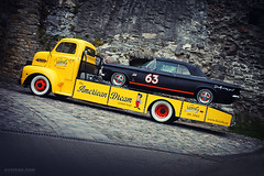 Dream Transporter (Rawcar.com Photography) Tags: ford f6 1951 chevy chevrolet corvair 1963 transporter race racing car truck