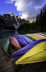Perfect Color Palette (Raw Perfection Photography) Tags: canoe moraine lake sunrise banff