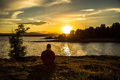 Silence at sunset (Tonca Photography) Tags: sunset siluete oslo norway sea beach beautiful