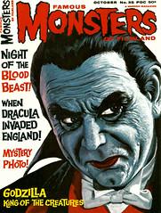 Famous Monsters #35 (1965), cover by Vic Prezio (Tom Simpson) Tags: famousmonsters 1965 cover vicprezio famousmonstersoffilmland dracula belalugosi 1960s art painting magazine vintage horror halloween vampire