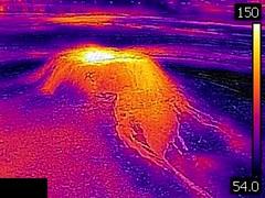 Thermal image of Sponge Geyser (afternoon, 11 June 2016) (James St. John) Tags: sponge geyser hill group yellowstone hotspot volcano upper basin geysers