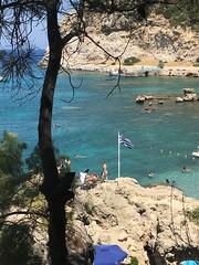 Rhodes, Greece (vanda jose) Tags: anthonyquinnbeach faliraki beach paradise summer greece rhodes rhodos islands sun flag sea