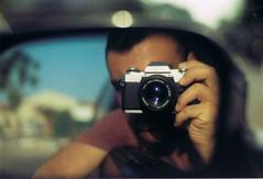 New old camera (elchan - jeremiah) Tags: film 35mm minolta x300 slr selfie blurred background kodak colorplus 200