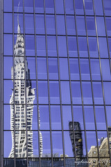 Chrysler Building reflected        2870 (deanwgd608) Tags: 42ndst gct manhattan reflection nyc newyorkcity glass chryslerbuilding