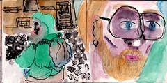 ob er sah, dass es gut war? Einen Schei sah er. Es war alles wie immer (raumoberbayern) Tags: sketchbook skizzenbuch tram munich mnchen bus strasenbahn herbst winter fall pencil bleistift paper papier robbbilder stadt city landschaft landscape