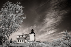 Fort Point Lighthouse (Rodney Harvey) Tags: fort point lighthouse maine infrared new england