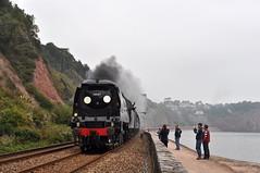 20140928    34067 (paulbrankin775) Tags: 34067 tangmere battle britain sprey point teignmouth southern railway steam smoke