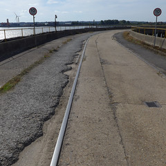 Rails (moley75) Tags: barkinganddagenham dagenham eastlondon footprintsoflondon industrialhistoryofdagenhamdock london lowtide pier rails thames thundererroad wharf