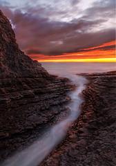 The crack (Sribha Jain) Tags: pacific davenport california pch ca1 beach rocks longexposure waves
