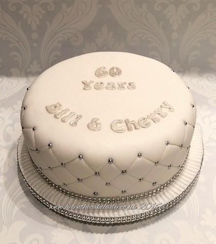 60th Diamond Wedding Anniversary Cake A Photo On Flickriver