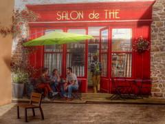 La vie en virtuel (CcileAF) Tags: canon village town painting trompe loeil wall urban red summer