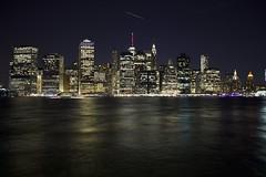 160915 Manhattan at Night from Brooklyn Bridge Park (BY Chu) Tags: brooklyn brooklynbridgepark downtownmanhattan newyork