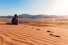 The red sand dunes of Wadi Rum, Jordan (**luisa**) Tags: wadirum desert rock mountain sand dune bedouin sunset sunbeam light luisapuccini orangephotographic