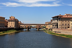 Ponte Vecchio (chrisdingsdale) Tags: bridge florence italian italy europe architecture arno river famous travel tourism tuscany ancient sky building blue city tourist vecchio old firenze historic medieval ponte arch landmark water reflection italia art clouds european renaissance vacation view cloudy firence color garden cityscape housesponte historical horizontal culture scenery toscana scenic florentine