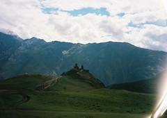 (Nikolay Kulivets) Tags: 35mm film olympusmjuii mjuii kodak georgia kazbek caucasus alpinism monastery clouds