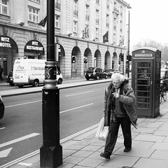 The Mad Professor (Nick Lambert!) Tags: street uk blackandwhite bw london fuji streetscape theritz themadprofessor fujix100 fujinonasphericallens