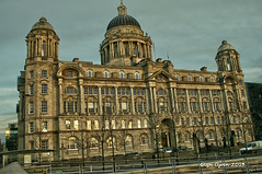 Port of Liverpool Building (Glyn Owen Photography & Image-Art) Tags: old building history tourism water stone architecture port liverpool canon vintage landscape effects dock ancient albert shoreline landmark lancashire historical hdr mersey 400d