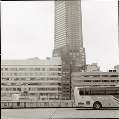 Decade of Warfare (monsieur be) Tags: bus japan tokyo shibuya hasselblad limousine cerulean excell