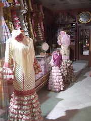 Flamenco dress store late at night (michael.robb) Tags: architecture spain seville parasol metrosol