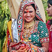 Une mariée hindoue à Khajuraho