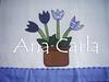 pano de prato tulipas (Ana Carla_Fazendo Arte) Tags: flores frutas galinha cupcake patchwork cozinha