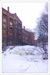 Oslo River (paulmcdee) Tags: park travel winter holiday snow cold tourism ice water weather oslo norway canon river frozen stream factory tourist powershot freeze icy mills s100 5photosaday topqualityimagesonly