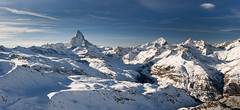 Zermatt Panorama (flamouroux) Tags: winter panorama snow mountains alps nature schweiz switzerland gornergrat zermatt matterhorn ch